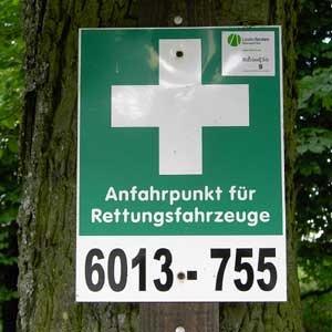 Rettungspunkt-Schild