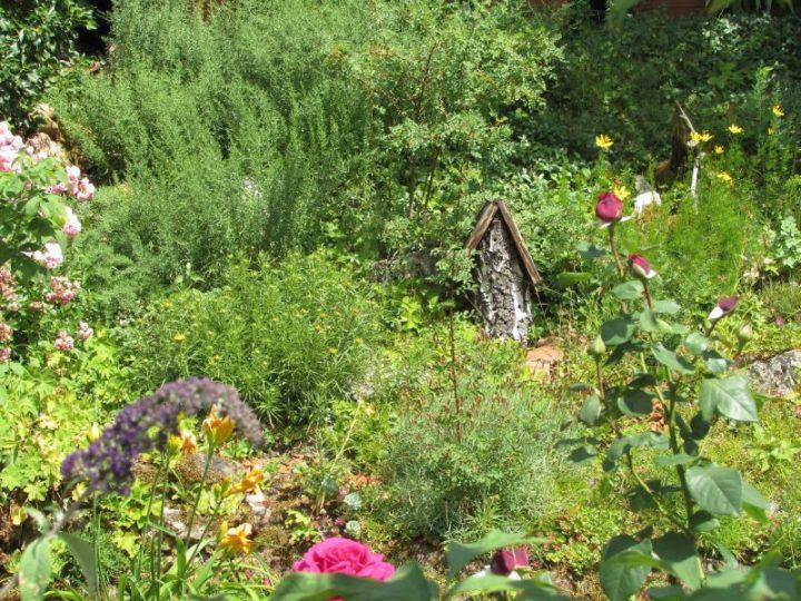 Mit hohem ästhetischem Wert und hoher Artenvielfalt: Der Garten von Hans Müller in Klingenmünster, der den zweiten Platz im diesjährigen Wettbewerb belegte (Foto: Biosphärenreservat)